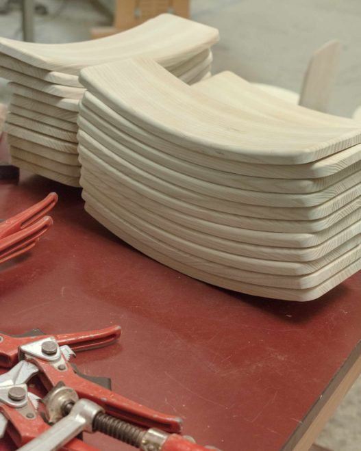 Detail der Lehnen der Kofel Stühle
