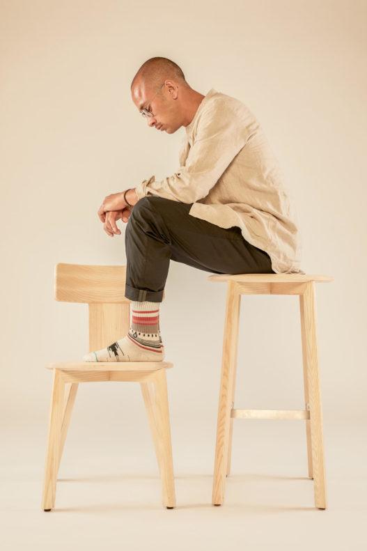 Barhocker und Stuhl der Kofel Kollektion
