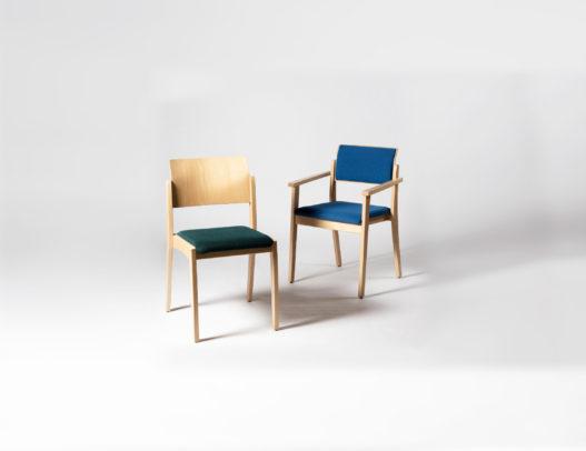 Trewit Spalestuhl Tiss aus Massivholz mit und ohne Armlehnen