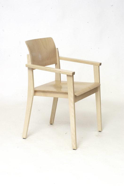 Stuhl Tiss mit Armlehnen ohne Sitz- und Rückenpolsterung