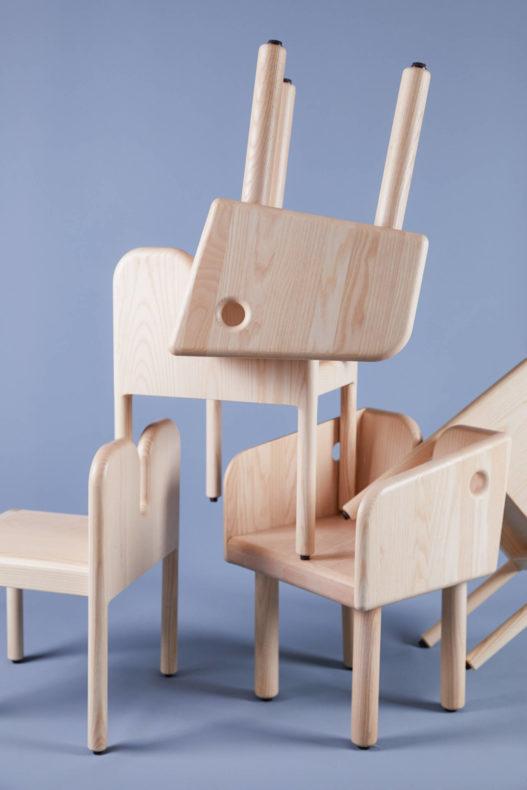 Kindergarten Stühle aus Massivholz von Trewit