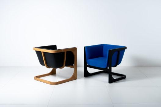 Trewit Crafted Collection Fauteuil schwarz und blau