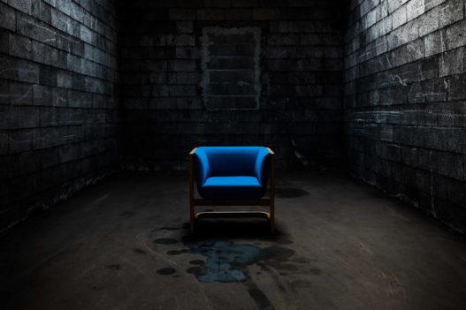 Trewit Crafted Collection Fauteuil Eiche und blau