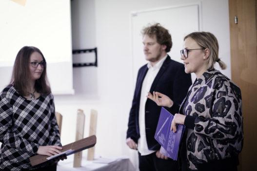 Sophie Wittmann beim Ideenwettbewerb mit der HTBLA Hallstatt