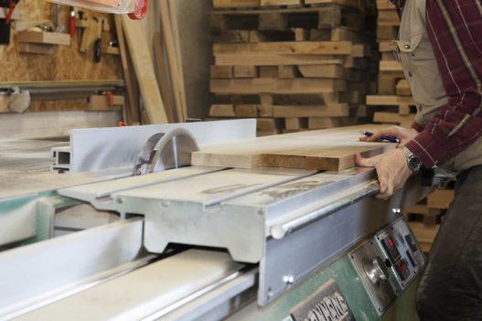 Massivholz Kreissäge in Trewit Werkstatt