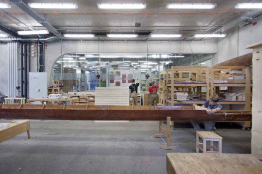 Werkstatt mit Hobelbänken von Wittmann/Trewit in HTBLA Hallstatt
